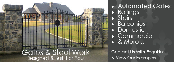 Electric Gates Steel Wooden Gate Meath Dublin Automated